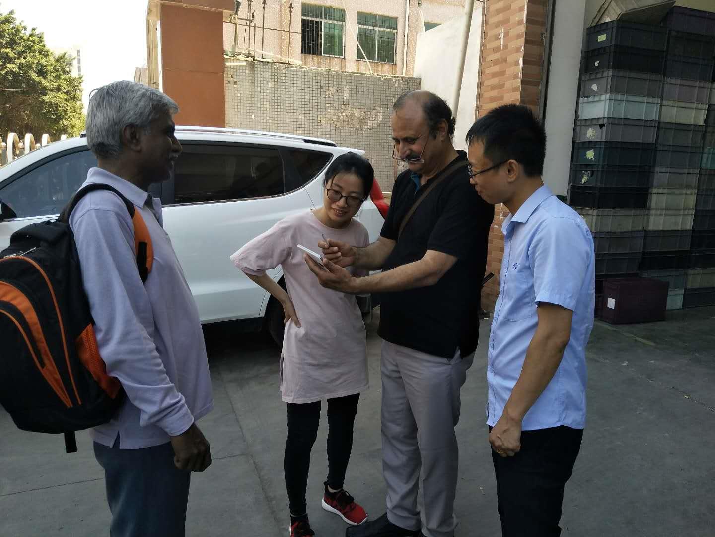 印度客户来访香芋机电